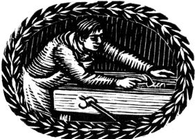 wood-engraving original print: Forming Raised Bands for The London Bookbinders